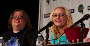 Michelle Talkington (Girls of Geek 12) and Heather Maloney Photo: Ken Termin
