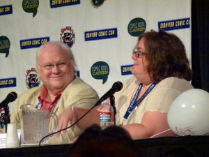 Heather Maloney and Colin Baker  Panel Photo: Ken Termin
