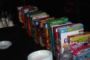 Littleton, Colorado: The Alamo Drafthouse Cartoon Cereal Party's cereal bar. Photo: Heather Maloney